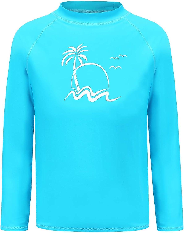 Mail order Boys Long Sleeve Max 76% OFF Rash Guard Shirts Kids Protection S UPF 50+ Sun