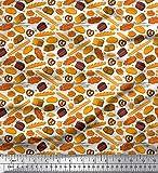 Soimoi Weiß Baumwoll-Popeline Stoff Brezeln, Kuchen-und