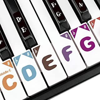 Piano Stickers for 88/61/54/49/37 Key. Colorful Super Large