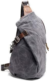 Waterproof Canvas Shoulder Bags Men Dumplings Chest Bag Male Messenger Bags Man Fashion Crossbody Bag