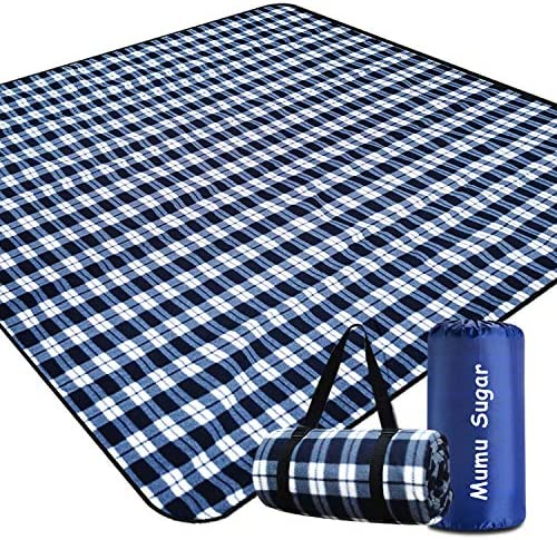 Mumu Sugar Outdoor Picnic Blanket Extra Large Picnic Blanket 80 x80 with 3 Layers Material Waterproof product image