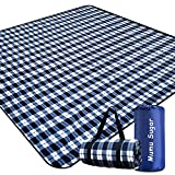 Mumu Sugar Outdoor Picnic Blanket,Extra Large Picnic Blanket 80'x80' with 3 Layers...