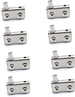 Sydien 8 Pcs Stainless Steel Glass Door Pivot Hinge Glass Clamp for 6-8mm Glass Used in Free Swinging Glass Door