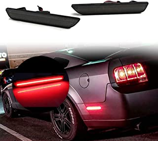 Rear Side Marker Lights Lamps Kits For 2015 2016 2017 2018 Ford Mustang,Smoked Lens High Power Red 48-SMD LED Replace OEM Back Side marker Lamps