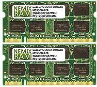 NEMIX RAM 4GB 2x2GB DDR2-667 メモリー Apple iMac 2006 2007用