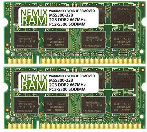 Price comparison product image NEMIX RAM 4GB 2x2GB DDR2-667 Memory for Apple iMac 2006 2007