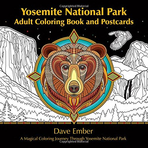 Yosemite National Park, Adult Coloring Book and Postcards