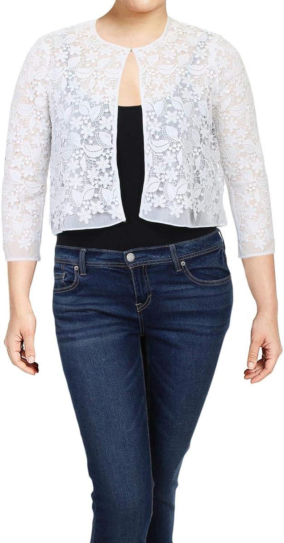 Lauren Ralph Lauren Womens Jaxonette Lace 3 4 Sleeves Bolero White 6