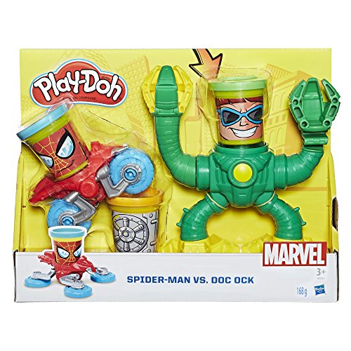 Hasbro Play-Doh B9364EU4 - Marvel Spiderman vs Doctor Octopus, Knete