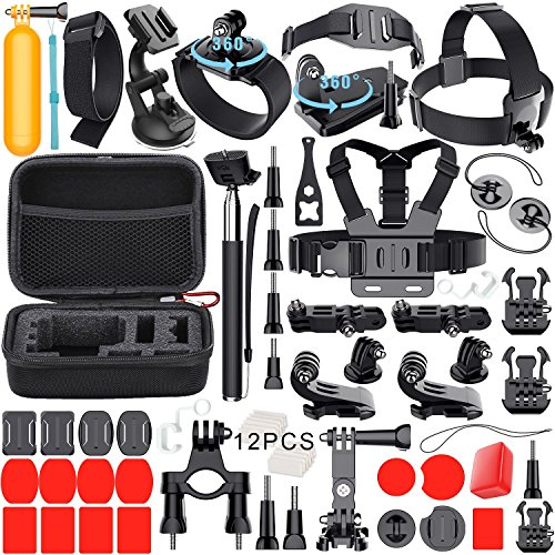 Leknes 54 en 1 Accesorios Kit para GoPro Hero 5 4 3 + 3 2 1 Black Silver and SJCAM SJ4000 SJ5000 SJ6000 Action Camera Accessories para Lightdow/Xiaomi yi/WiMiUS/DBPOWER