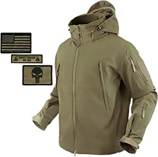 Condor Summit Softshell Tactical Jacket Bundle + 3 Morale Patches