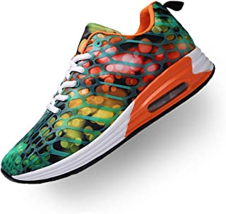 Running Shoes for Women Men Lightweight Air Cushion Sneakers Breathable Lace Up Walking Shoes