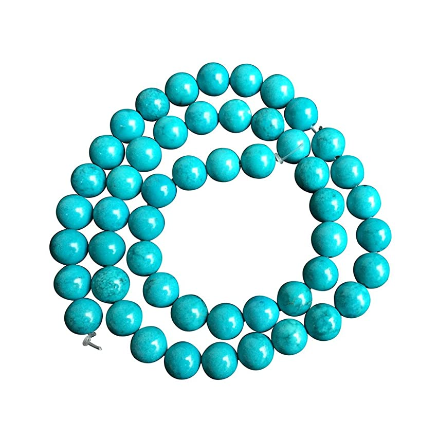 Natural Turquoise Gemstone 6mm Round Loose Stone Beads for Jewelry Making 15.5