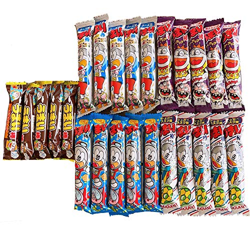 Umaibo Japanese Corn Puffed Snacks Variety Pack 5 Different flavors 25 Count Family Pack