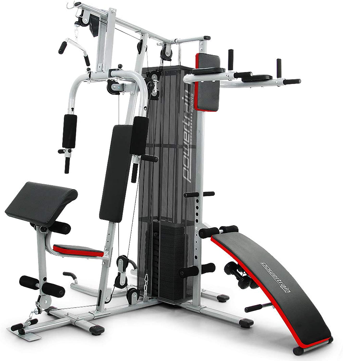 Powertrain MultiStation Home Gym with Weights 175lbs