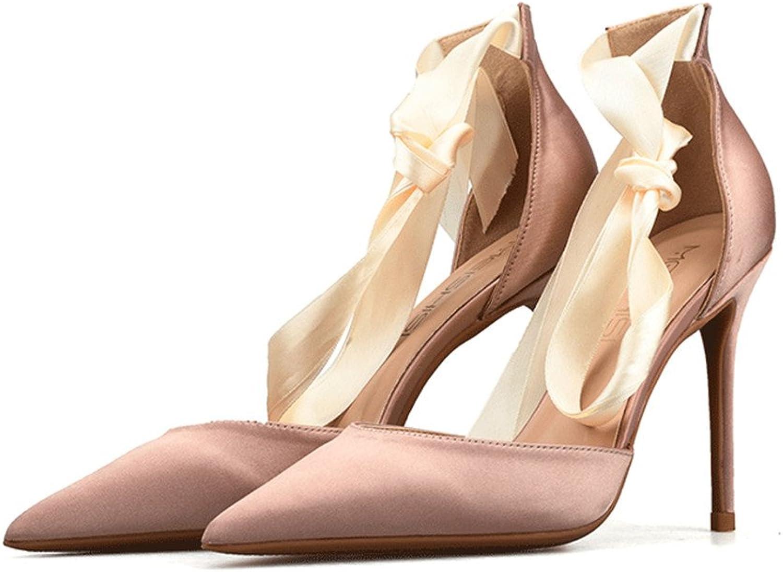 CCBubble High Heels Satin Women shoes Ankle Strap Stiletto Pumps Women