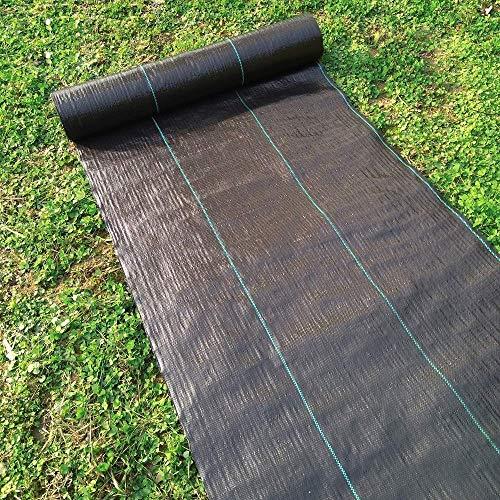 Ironhorse Tela resistente para el control de malas hierbas, revestimiento de suelo resistente a los rayos UV, muy adecuada para jardines, camas de flores, paisajismo y pasaje de película