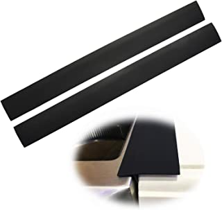 Silicone Stove Counter Gap Cover Kitchen Counter Gap Filler by Kindga 25'' Long Gap Filler Sealing Spills Between Kitchen Appliances Washing Machine and Stovetop, Set of 2(Black) …