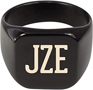 Molandra Products JZE - Adult Initials Stainless Steel Ring