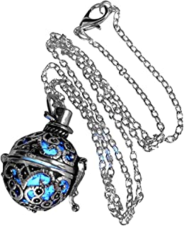 UMBRELLALABORATORY Steampunk FIRE Necklace - Pendant Glow Locket - Great Gifts for Teen Girls, Mother, Father, Little Girls Jewelry