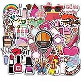 PMSMT 50 unids/Lote Linda Chica cosméticos Pegatina lápiz Labial Perfume Tacones Altos patrón de Bricolaje para Maleta de Equipaje portátil Pegatinas Lindas