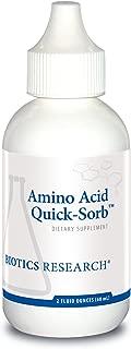 Biotics Research Amino Acid Quick Sorb™– Liquid Formula, Highly Absorbed, Glycine, L-Alanine, L-Arginine HCl, L-Lysine HCl, L-Proline, L-Histidine HCl, L-Serine, L-Threonine, L-Valine 2fl oz