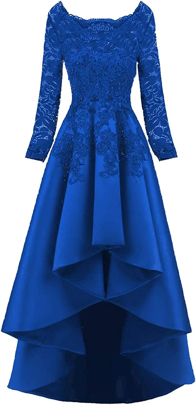 Scarisee Women's 2019 Long Sleeves Low Many popular brands Dresses Evening Nippon regular agency Prom High