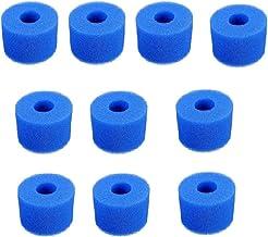 SPFCJL 10 unids Piscina Filtro Bomba de Agua Bomba de Filtro S1 Lavable Bio Foam 2 4 x Reino Unido Vi Lazy 'Z Tipo Filtro Piscina Piscina Accesorio (Color : Blue)