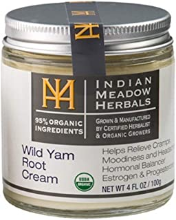 Indian Meadow Herbals, Cream Wild Yam Root, 4 Ounce