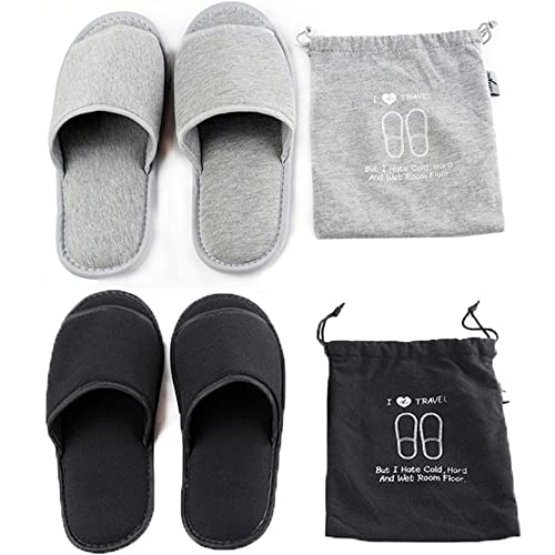 c2660d08995 Portable Travel Slippers Open Toe Sandals Cotton Spa Hotel Slippers  Non-disposable Guest Room Indoor