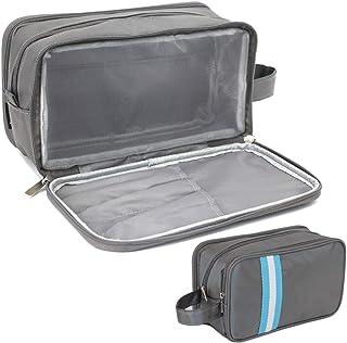 Mens Toiletry Bag, Waterproof Dopp Kit for Men Hanging Travel Shaving Wash Bags, Grey-Nylon Water-Resistant (Grey) - MTB-003