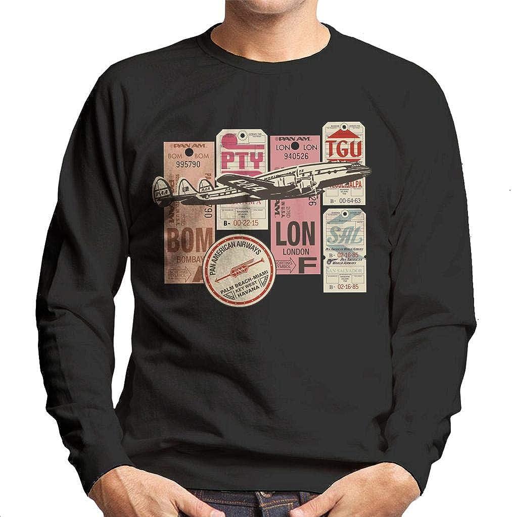 Pan Am Baggage Tags Montage Men's Sweatshirt