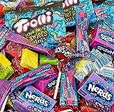 Fruit Hard Candy Party Assortment Nerds Mini Boxes, TWIZZLERS, JOLLY RANCHERS, Laffy Taffys, Trolli Mini Pouches, Lemonhead, Sweetarts - Bulk Pack, 3 Lbs