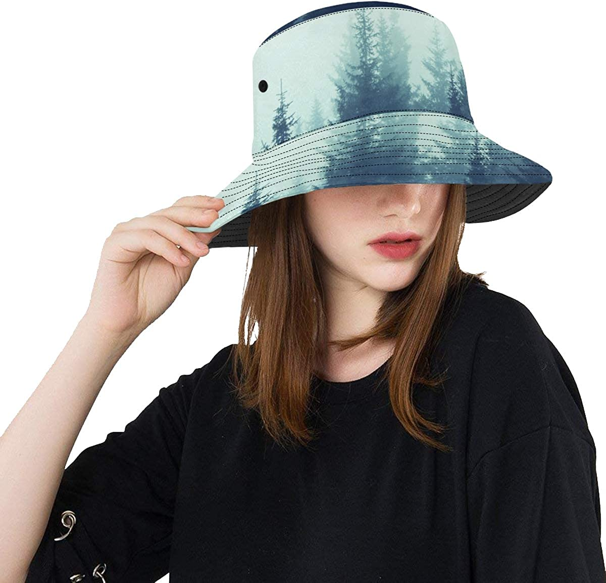 Ladies Sun Hats Fantasy Magic Free shipping on posting reviews Fog U Mountain Summer Soldering Forest Trees