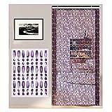 YANGJUN Kristall Türperlen Vorhänge, rustikale hängende Schnüre Tür Raumteiler für Wohnzimmer, Schrank, 3 Farben, benutzerdefinierte Größe (Color : B, Size : 67strands-80x180cm)