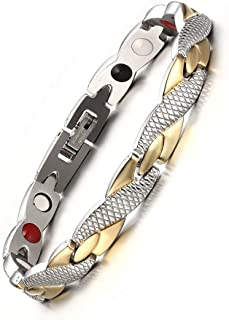Women's Fashion Twisted Healthy Magnetic Therapy Bracelet Pain Relief for Arthritis and Carpal Tunnel