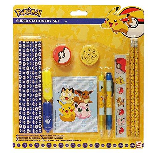 Pokemon POK1-691 - 16-teiliges Super-Schreibwaren-Set.