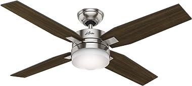 Hunter Fan 59207 Ventilador de Techo con Luz Mercado, color Níquel Pulido