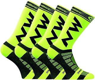 ZYING, Zore 4 Pares de Calcetines Deportivos para Ciclismo al Aire Libre, Calcetines para Correr para Hombres, Calcetines Deportivos Transpirables y cómodos para Ciclismo (Color : White)