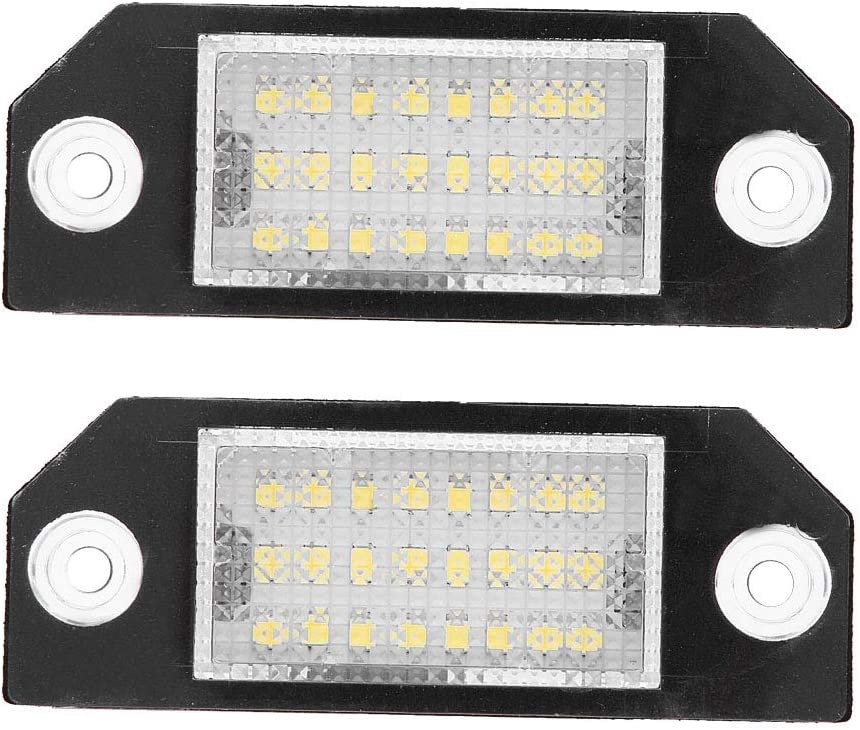 KIMISS 2pcs Challenge the lowest price 12V Car Number Plate Licen LED Beads Lights Direct stock discount 24 6000k