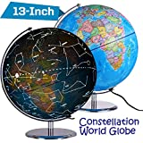 Best World Globes - ZUEDA 13 Inch Cartography Illuminated World Globe, Desktop Review