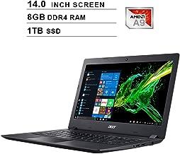 Acer Aspire 3 Newest 14-Inch Premium Laptop, AMD Dual Core A9-9420e up to 2.7GHz, AMD Radeon R5, 8GB DDR4 RAM, 1TB SSD, Webcam, HDMI, WiFi, Bluetooth, Windows 10 Home, Black