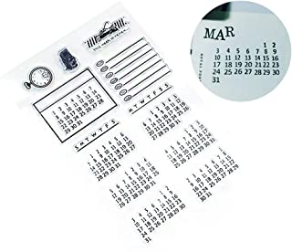 Calendar Stamps for Bullet Journal Painting Craft/Journal/Notebook/Diary/Scrapbook DIY