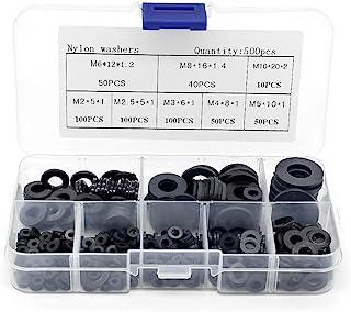 30 x M5 Blanc Clair Nylon plastique Spacer Rondelles M5 Vis et Boulons de 3 mm d/'épaisseur
