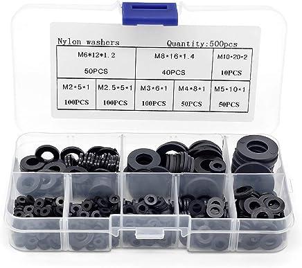 noir Rondelles en plastique Nylon noir M6 M8 M10 M12