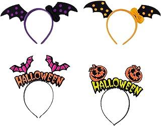 BESPORTBLE, 4 peças, argola de cabelo de Halloween adorável de morcego de abóbora para decoração de festa, decoração de Ha...