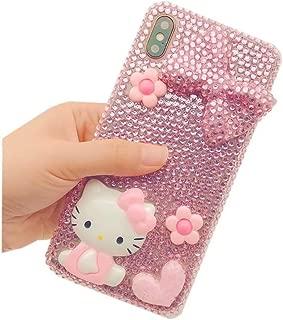 DVR 4000 Galaxy Note 8 Diamond Case,Handmade Pink Bow Cartoon Cat Bling Glitter Diamond Shining Sparking Crystal Rhinestone Phone Case for Samsung Galaxy Note 8,NO5