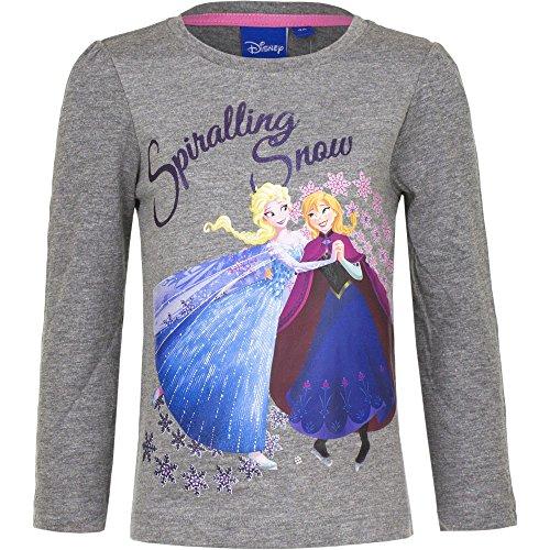 Frozen Die Eiskönigin Mädchen Langarmshirt | Kinder Langarm Pullover 104 / gra