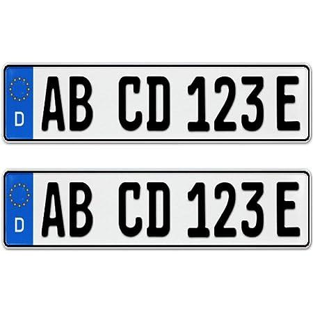 2 Stück Eu Kfz Kennzeichen Nummernschilder Mit Individueller Prägung Nach Ihren Vorgaben Dhl Express Auto