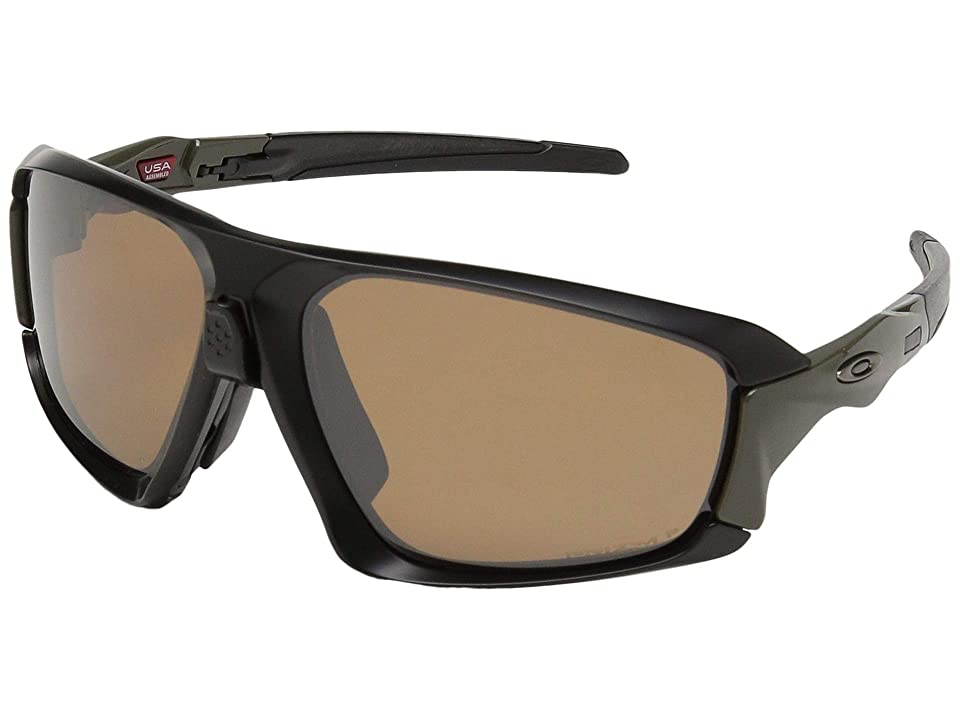 Oakley Field Jacket (Matte Black/Olive w/ Prizm Tungsten Polarized) Sport Sunglasses